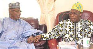 Lamido with Obasanjo