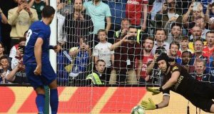 Petr Cech stops Morata's penalty