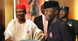 Gov. Obiano with Acting President Osinbajo after the NEC meeting