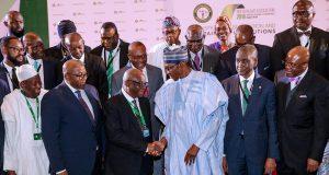 President Buhari with the leadership of NBA