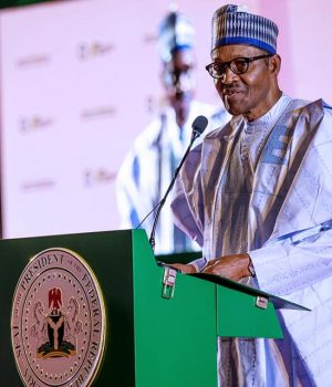 President Buhari addressing the NBA Conference