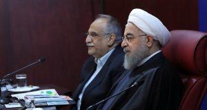 Rouhani with Economy Minister, Masoud Karbasian
