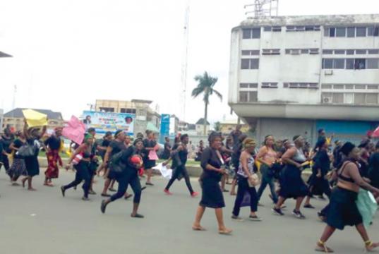 Imo IPOB women protest over Kanu