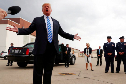 President Trump addresses media