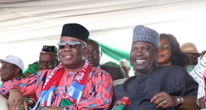 Akpabio and Ekere at the reception.