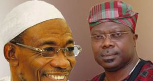 Gov. Rauf Aregbesola and Sen. Iyiola Omisore
