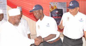 Gov. Abdullahi Ganduje of Kano with Eng. Joseph Makoju at the launch of BlocMaster in Kano