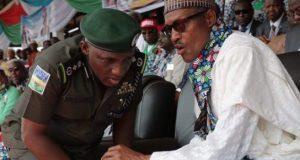 President Buhari and IGP-Idris