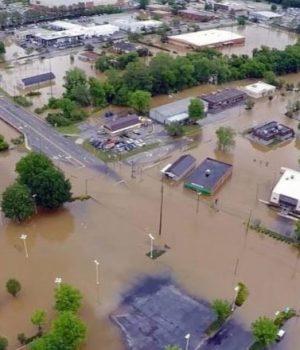 Flooded terrain