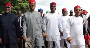 Saraki and his team in Abia State