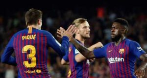 Gerard Pique rescues a point for 10-man Barcelona