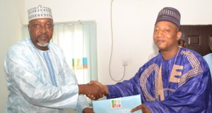 Aliyu Haidar Abubakar APC Gubernatorial Aspirant Gombe State, submitting his form