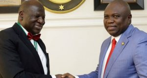 ICAN President, Razak Jaiyeola with Gov. Ambode of Lagos