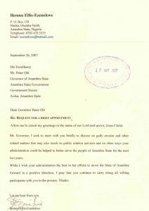 Ikenna's letter
