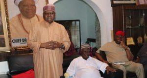 Kabiru Taminu Turaki, KTT(Standing) at the Chief Clark's residence in Abuja