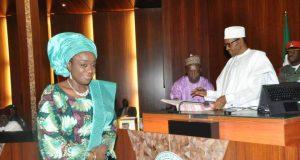 Kemi Adeosun with President Buhari