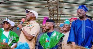 APC candidate in Osun, Gboyega Oyetola, Oshiomhole, Osinbajo and Tinubu