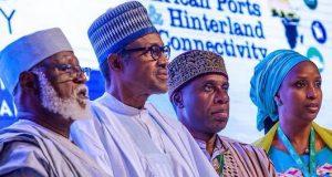 Gen. Abdusalami, President Buhari, Rotimi Amaechi,NPA MD, Hadiza Bala Usman