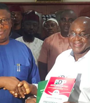 Sen. David Mark picks PDP Presidential nomination paper