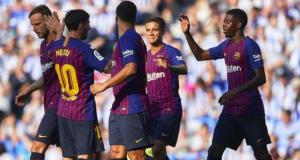Barcelona beat Real Sociedad