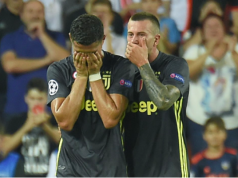 Ronaldo walks out in tears after red card