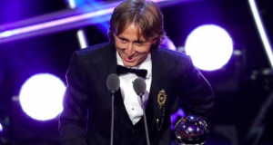 Luka Modric was crowned as the best men's player of the year