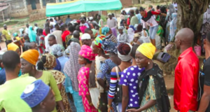 Voters at the Osun gov. rerun