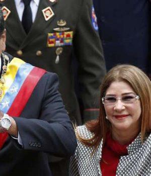 Venezuela President Maduro and wife, Cilia Flores