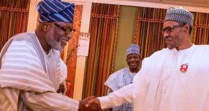 Gov. Rotimi Akeredolu with President Buhari