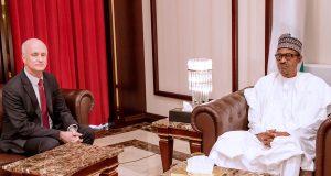 Ambassador of the Peoples' Republic of Japan, Yutaka Kikuta with President Buhari