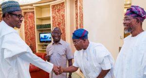 President Buhari and Gboyega Oyetola