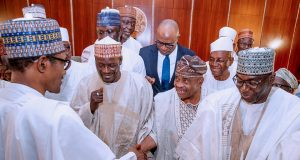 Buhari with APC political leaders in Kwara