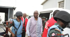 Fayose arrives in court