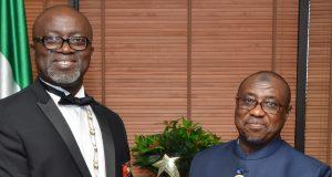 NNPC GMD, Baru & NSE Abuja Chairman, Engr. Chinasaokwu Okolie,