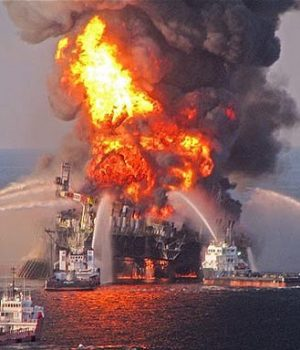Gulf of Mexico oil platform