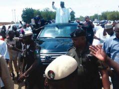 Gov. Aminu Tambuwal's convoy in Sokoto