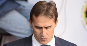 Julen Lopetegui, down and out