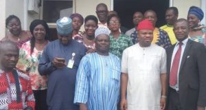 NUJ President, Chris Iziguzo with members of FCT-NUJ-Council