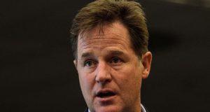 former British Deputy Prime Minister, Nick Clegg,