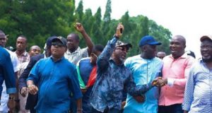 PDP Leaders protest to INEC