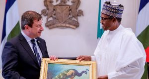 Paul Arkwright with President Buhari