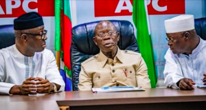 Adams Oshiuomhole with other NWC members