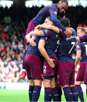 Arsenal scored four goals in the Premier League for the first time this season