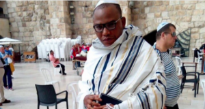 IPOB leader, Nnamdi Kanu in Jerusalem