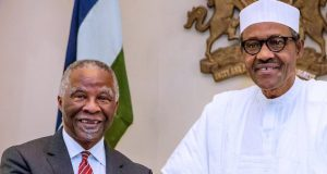 Thabo Mbeki with President Buhari