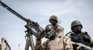 Soldiers fighting Boko-Haram