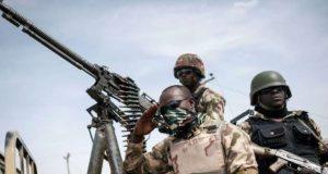Soldiers fighting Boko-Haram