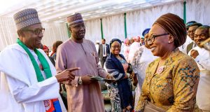 Buhari at the launch of BUB