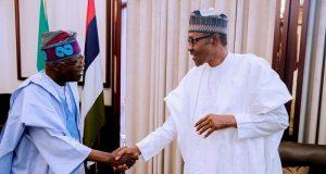 Buhari meeing with Tinubu at Aso-Villa