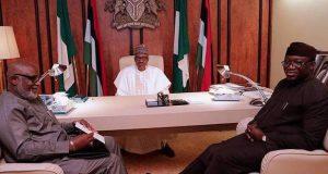 Buhari meets Govs Akeredolu and Kayode Fayemi